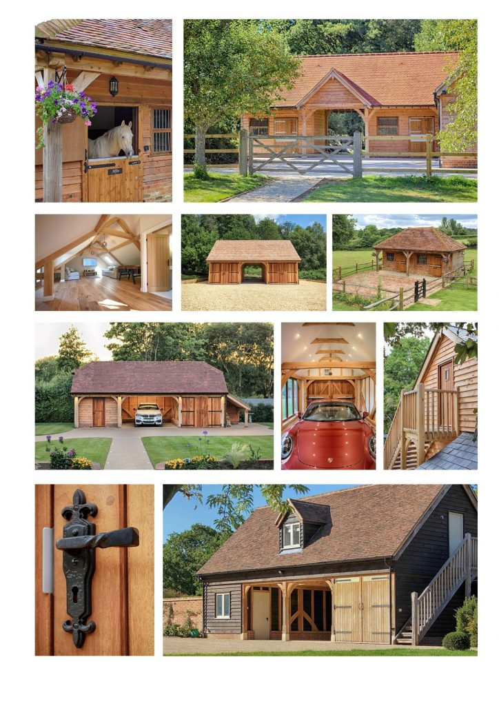 Classic Barn Collage 1 724x1024 - Indulge your Senses with Classic Oak Framed Stable Complexes & Outbuildings