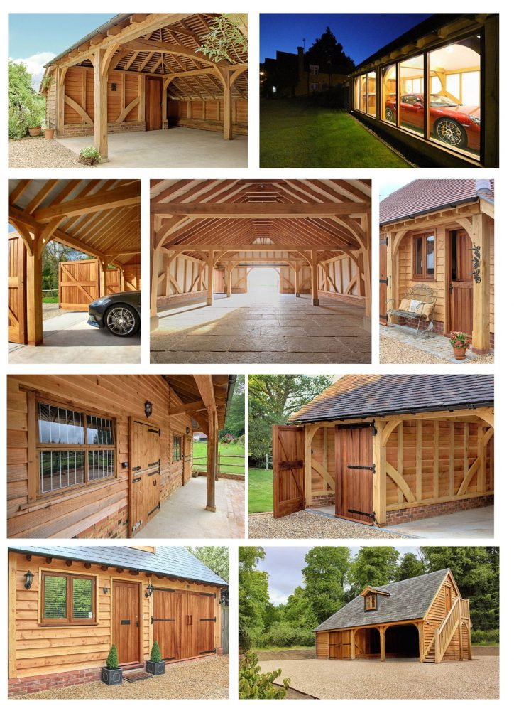 Classic Barn Collage 2 724x1024 - Indulge your Senses with Classic Oak Framed Stable Complexes & Outbuildings