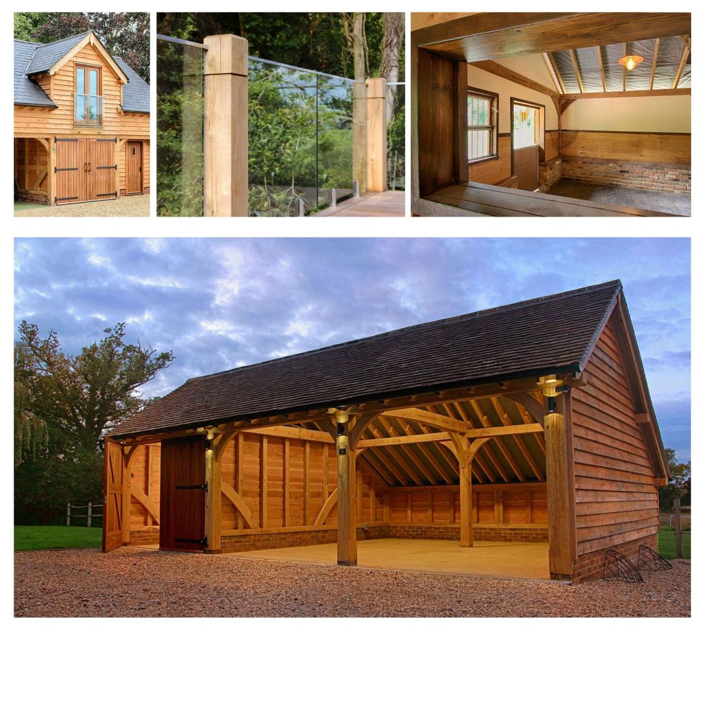 Copy of Classic Barn Collage 3 1024x1024 - Indulge your Senses with Classic Oak Framed Stable Complexes & Outbuildings