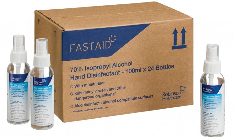 FastAid 70 IPA Hand Disinfectant 750x440 - Robinson Healthcare Provide PPE for Frickley Park Horse Trials