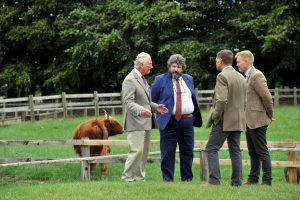 HRH RBSTs Christopher Price Adam Henson 2 300x200 - The Prince of Wales visits Cotswold Farm Park to discuss Rare Breeds Conservation