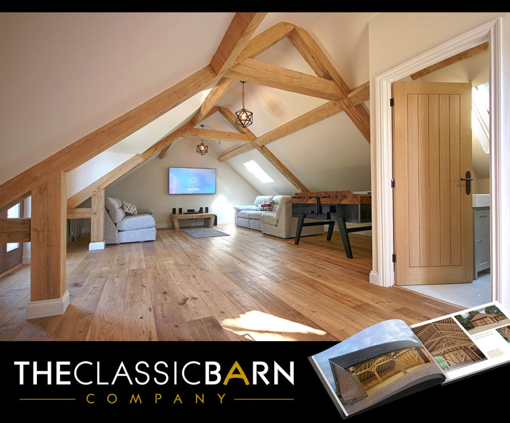 Inside Room Above Outbuilding 1024x848 - Indulge your Senses with Classic Oak Framed Stable Complexes & Outbuildings