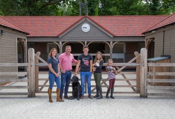 Lee Middleton and family having bespoke stables built by Scotts of Thrapston