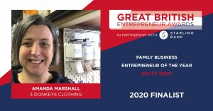 3 donkeys 300x157 - 3 Donkeys Clothing's founder is a finalist in the Great British Entrepreneur Awards