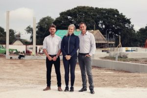 group shot 300x200 - Olympic dressage hopeful pairs with specialist equestrian construction company to design new world-class facility in the south of England