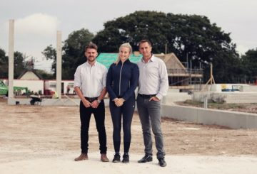 group shot 360x245 - Olympic dressage hopeful pairs with specialist equestrian construction company to design new world-class facility in the south of England