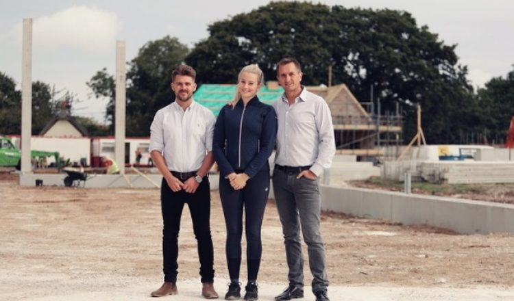 group shot 750x440 - Olympic dressage hopeful pairs with specialist equestrian construction company to design new world-class facility in the south of England