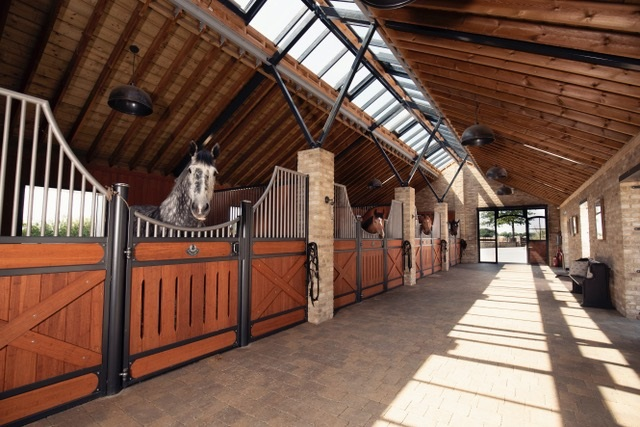 internal stables - Olympic dressage hopeful pairs with specialist equestrian construction company to design new world-class facility in the south of England