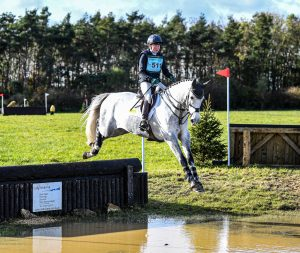 Eliza Stoddar and De Pleasure on the cross country 300x253 - Eliza Stoddart Defends Five-Year-Old Championship at Oasby