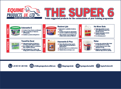Equine Products super six graphic - Equine Products UK celebrates 40 years of supporting horse owners and trainers around the world