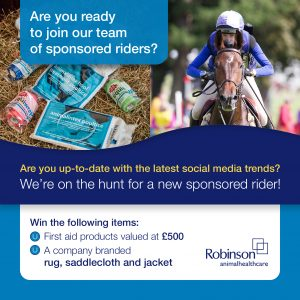 RAHC Sponsored Rider Search Social Media 300x300 - Robinson Animal Healthcare Launch Search for Sponsored Rider