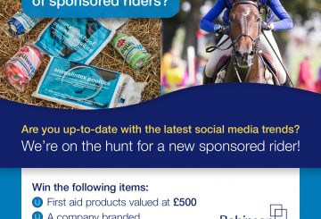 RAHC Sponsored Rider Search Social Media 360x245 - Robinson Animal Healthcare Launch Search for Sponsored Rider