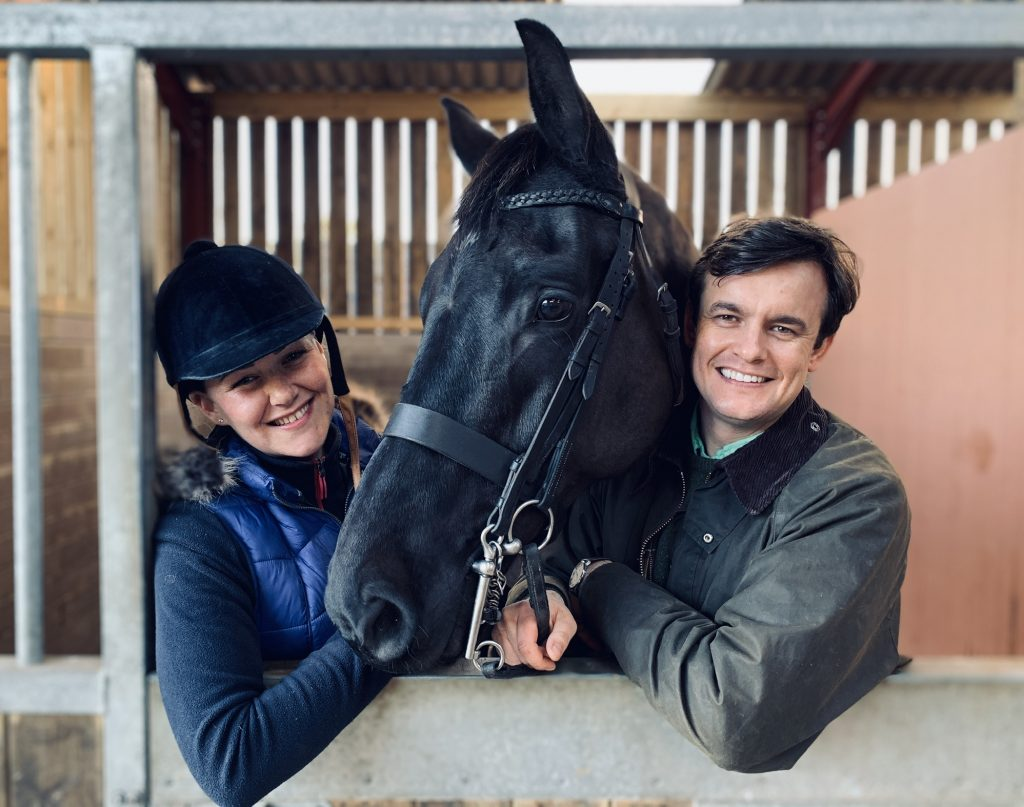 Andrew and Brooke with their horse Louis 1024x807 - Technology startup launches new website to disrupt horse selling sites