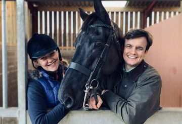 Andrew and Brooke with their horse Louis 360x245 - Technology startup launches new website to disrupt horse selling sites