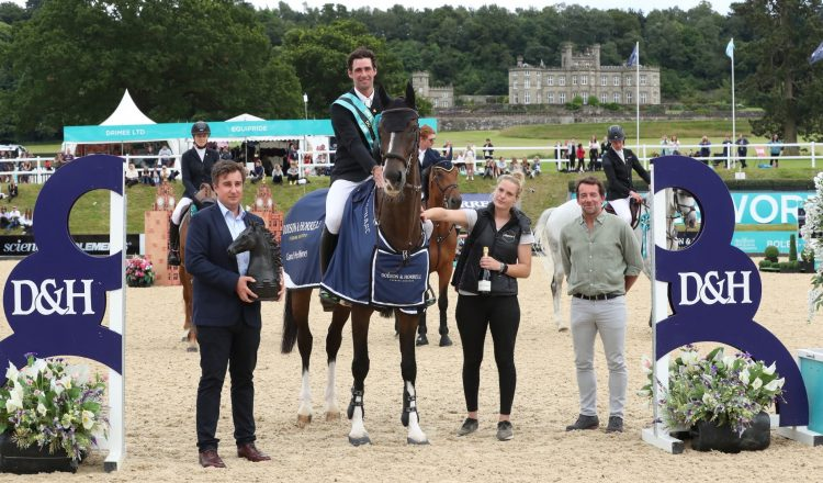 David Simpson and Foudre F, taking the title honours by producing the only double clear in the highly competitive Dodson & Horrell CSI3* Grand Prix