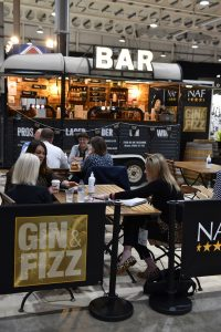 NAF Gin Fizz Bar 200x300 - New Move to Stoneleigh Proves a Huge Success for BETA International 2021